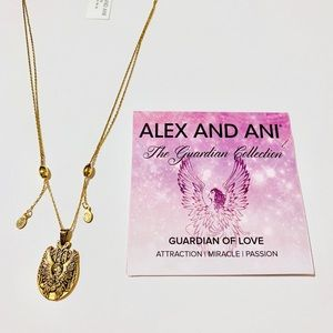 New Alex and Ani Guardian of Love Gold Necklace
